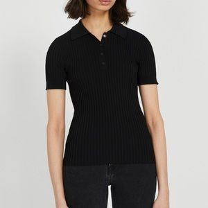 FRANK AND OAK Short Sleeved Sweater Polo